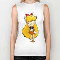 sailor venus Biker Tanks featuring Sailor Scout Sailor Venus by Space Bat designs