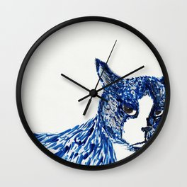 Boots in Blue Wall Clock