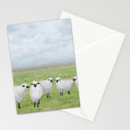 sheep and queen anne's lace Stationery Cards