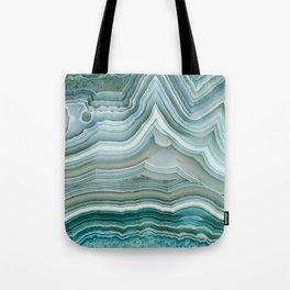 Agate Crystal Blue Tote Bag