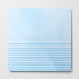 Sweet Life Collection Gradient Blue Raspberry Metal Print