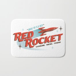 Red Rocket Bath Mat