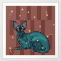 sphynx Art Prints featuring Sphynx by Illness