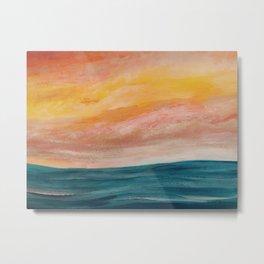 Rolling ocean Metal Print