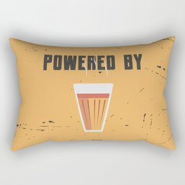 Funny Powered By Chai Tea Quote Rectangular Pillow