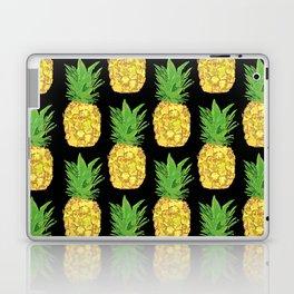Pineapple Pop Black Laptop & iPad Skin