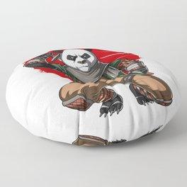 Panda Bear Ninja Samurai Floor Pillow