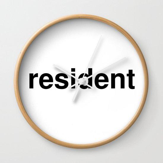resident Wall Clock
