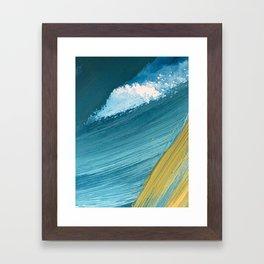 Paradise: a vibrant, minimal, abstract mixed media piece Framed Art Print