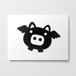 Pigs Will Fly (b&w) Metal Print