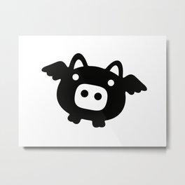 Pigs Will Fly (b&w) Metal Print