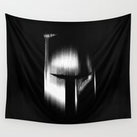boba Wall Tapestries featuring Boba fett  by Dark Room