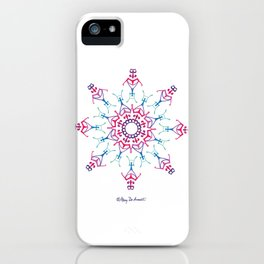 Breathe In & Out Mandala - White iPhone Case