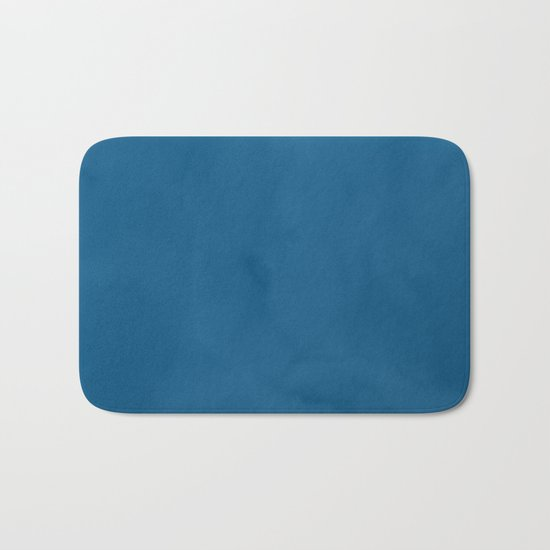 Saltwater Taffy Teal Watercolor Bath Mat