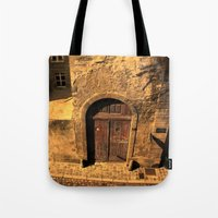 door Tote Bags featuring door by Crazy Thoom