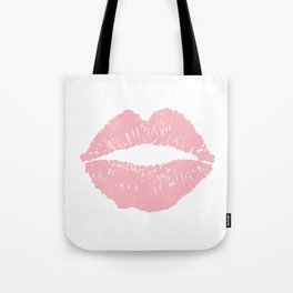 Coral Lips Tote Bag