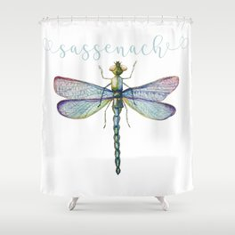 Sassenach Dragonfly Shower Curtain