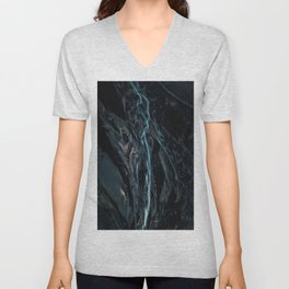Abstract River in Iceland - Landscape Photography Unisex V-Neck