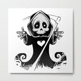 Cute grim reaper halloween Metal Print