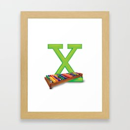 X is for Xylophone Framed Art Print