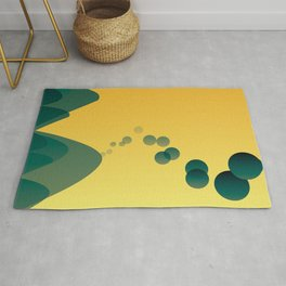 Green & Yellow Brazilian dream Rug