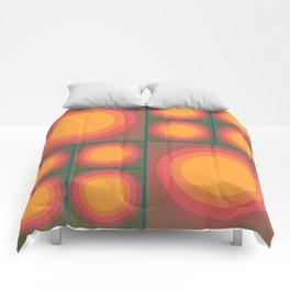70s Sunflower Brown & Orange Comforters