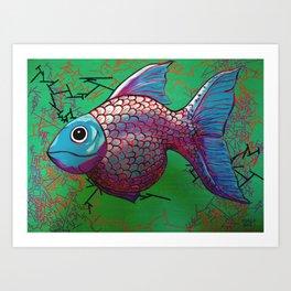 BETA FISH 2.0 Art Print