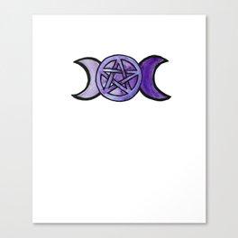 Triple Moon Pentagram Canvas Print
