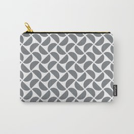 HALF-CIRCLES, GREY Carry-All Pouch