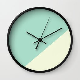 Powder Blue & Powder Pink - oblique Wall Clock