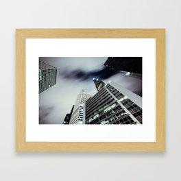 Cityscape I - Contemporary Skyscrapers Minimal Modern Studio Office Art Print Chicago Framed Art Print