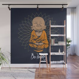 Be Happy Little Buddha Wall Mural