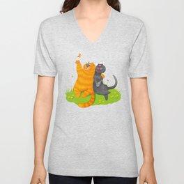 Cat lovers Unisex V-Neck