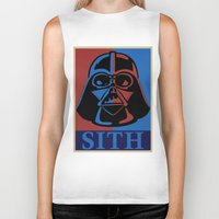 sith Biker Tanks featuring Sith lord by coolz77
