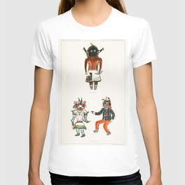Hopi Katcinas - Piokot Turkwinu Turkwinu Mana (1895) drawn by the native people from the book of Jes T-shirt