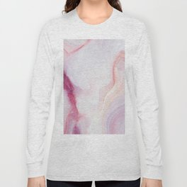 Pink And White Stone Long Sleeve T-shirt