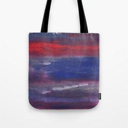 Red Blue nebulous watercolor Tote Bag