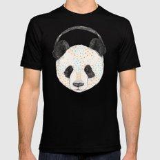 Polkadot Panda MEDIUM Black Mens Fitted Tee