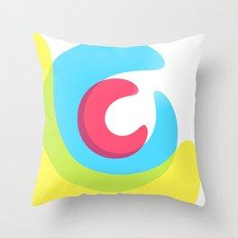 Time warp colour spash Throw Pillow