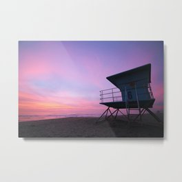 Cotton Candy Sunsets Metal Print