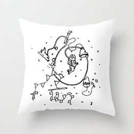 Into Space Throw Pillow