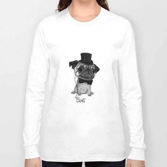 Pug (gentle pug) B&W version Long Sleeve T-shirt