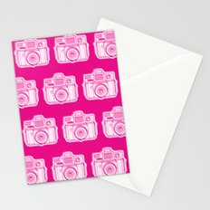 I Still Shoot Film Holga Logo - Reversed Pink Stationery Cards