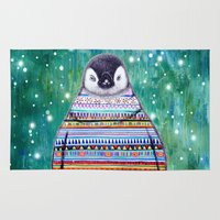 penguin Area & Throw Rugs featuring penguin by beart24