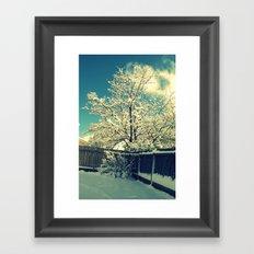 New Mexico Snow Scene  Framed Art Print