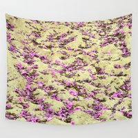 rug Wall Tapestries featuring Flowers Rug by Lia Bernini