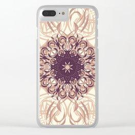 Rose Gold Flourish Clear iPhone Case