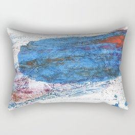 Steel blue colored wash drawing texture Rectangular Pillow