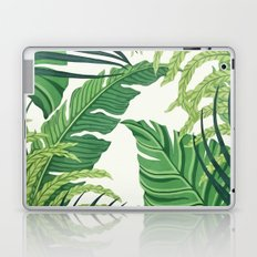 Green tropical leaves II Laptop & iPad Skin