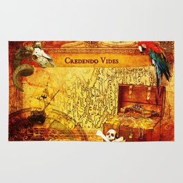 Credendo Vides Old Pirate Map Rug